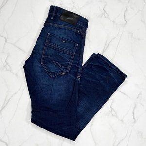 Jack & Jones Boxy Loose Fit Distressed Wash Jeans